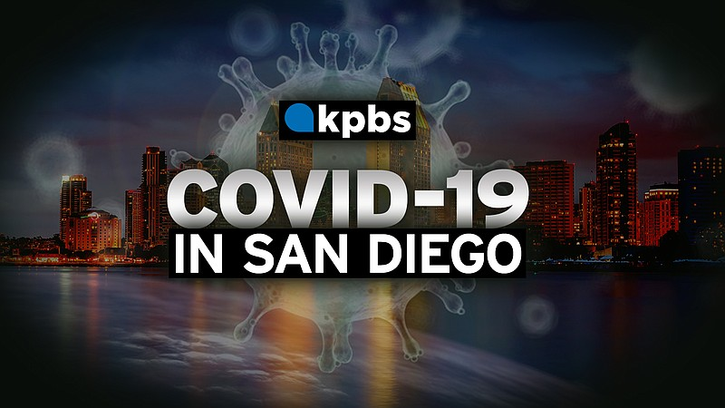 The KPBS COVID-19 graphic is pictured in this undated image.