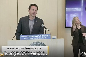 Photo for San Diego County Officials Give Update On COVID-19, Urge Residents To 'Stay A...