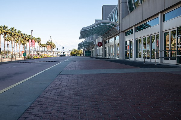The closed San Diego Convention Center is shown on March ...