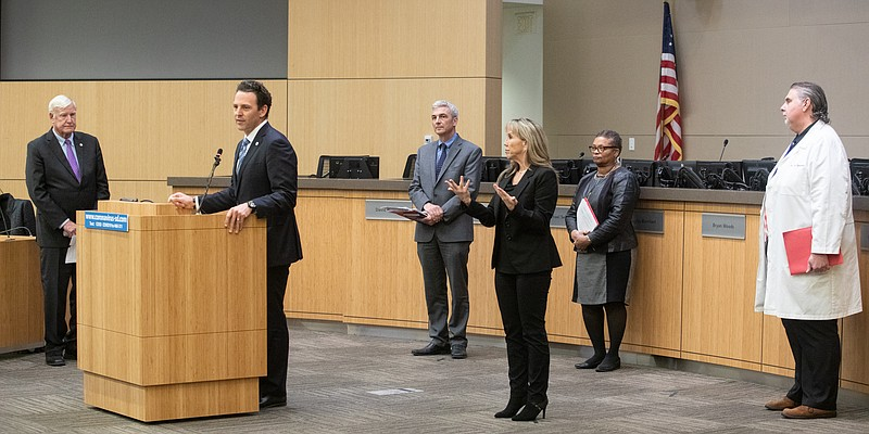 San Diego County Supervisor Nathan Fletcher, co-chairman of the county's COVI...