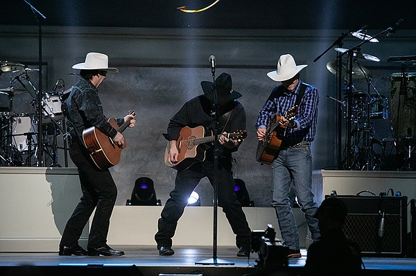 Garth Brooks and his band at the live taping at DAR Const...