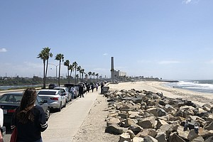 Photo for Beaches In Solana Beach, Del Mar And Carlsbad Reopen For Exercise