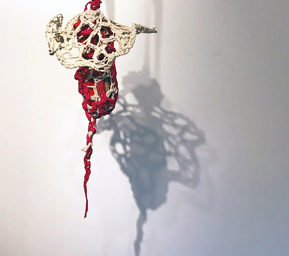 A piece from Michelle Montjoy's installation,
