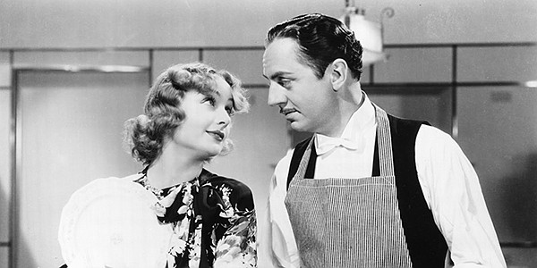 Carole Lombard is a dizzy rich girl and William Powell is...