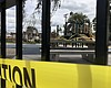 Caution tape surrounds a city park that was clo...