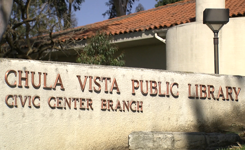 The Chula Vista Public Library, Civic Center Branch, is seen in this undated ...