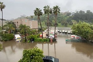 Photo for Slow-Moving Storm Keeps Drenching San Diego Area