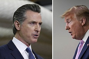 Photo for No Politics As Usual For Newsom, Trump During Pandemic