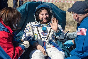 Photo for UCSD Grad Jessica Meir, NASA Crew Land Safely In Kazakhstan