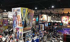 A small section of the exhibit floor at Comic-C...
