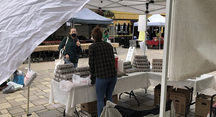 New strict guidelines are in place at Little Italy Farmers Market on Saturday...