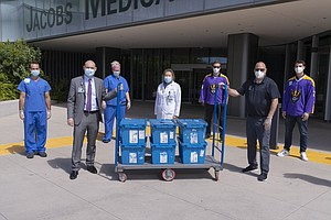 Photo for Alibaba Founder Joe Tsai Donates PPE To UC San Diego Health To Help With Coro...