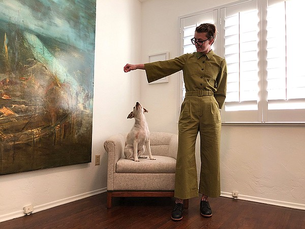 Trista Roland wears homemade coveralls from a Sugardale p...