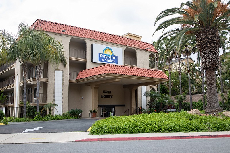 The Days Inn & Suites on Adobe Falls Road, which San Diego Mayor Kevin Faulco...
