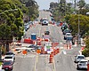 Road work on Meade Avenue in San Diego's Univer...
