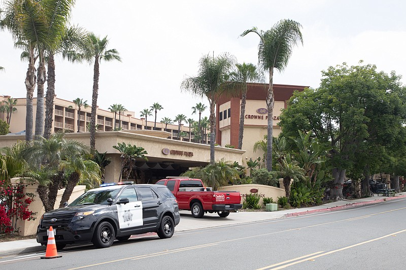 The Crowne Plaza hotel in Mission Valley, which the county is using as an iso...