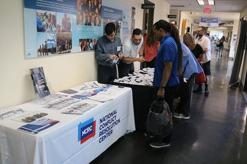 An in-person event held in 2019 by the National Conflict Resolution Center.