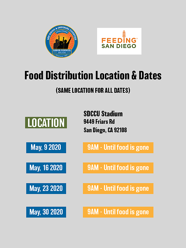 Feeding San Diego will be at the SDCCU stadium every Satu...
