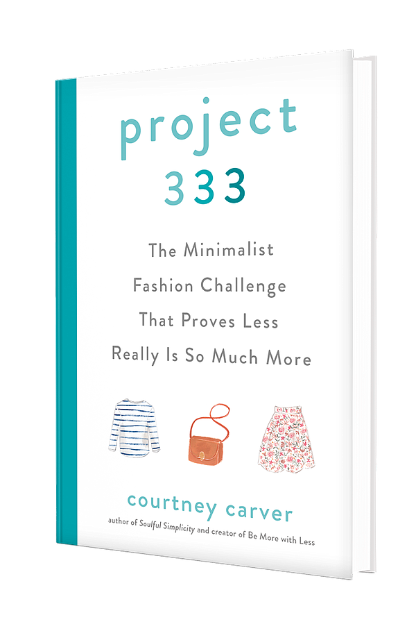 """The cover of the book, """"Project 333: The Minimalist Fashi..."""