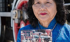 Connie Young Yu, historian and author, at Golde...