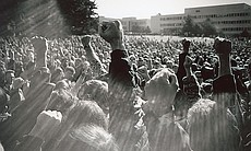 A protest with San Francisco State University i...