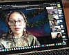Young people gather in a Google Hangout to disc...