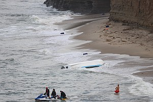 Photo for Panga Boat Washes Ashore Near Point Loma; 15 People Found On Beach