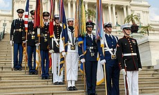 Color guard outside the U.S. Capitol.