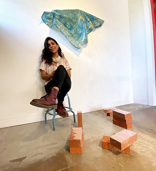 Visual artist Nassem Navab is pictured in her artist-in-r...