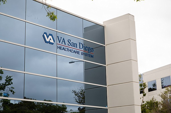 The Mission Valley building that houses the VA's San Dieg...