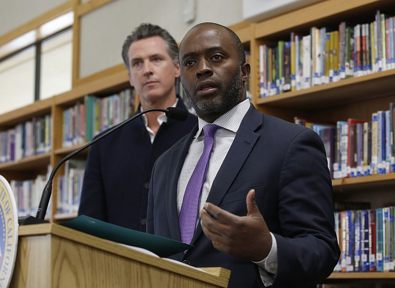 In this Oct. 31, 2019, file photo, state Superintendent of Public Instruction...