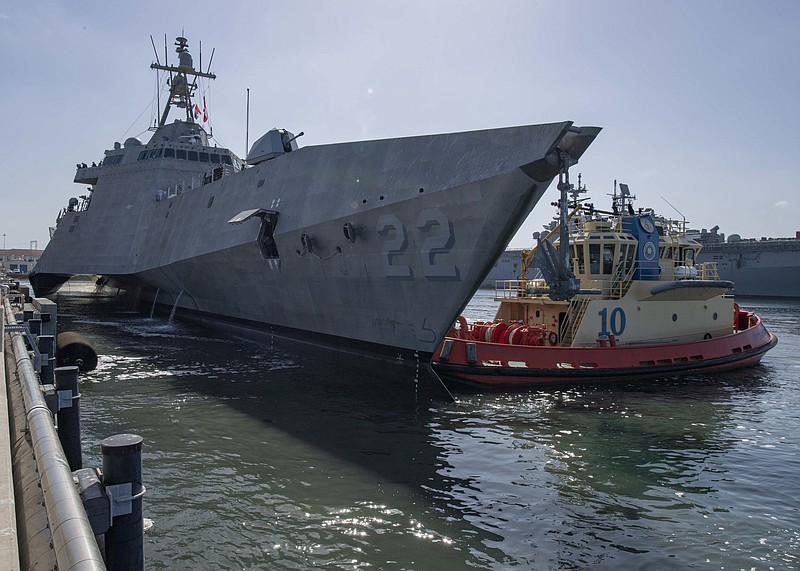 The Navy's newest littoral combat ship, the future USS Kansas City (LCS 22), ...
