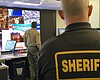 Los Angeles County Sheriff's Department monitor...