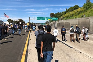 Protesters Shut Down I-8 in Both Directions After La Mesa Rally