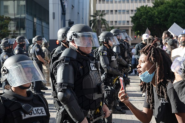 Protesters confront San Diego police over the killing of ...