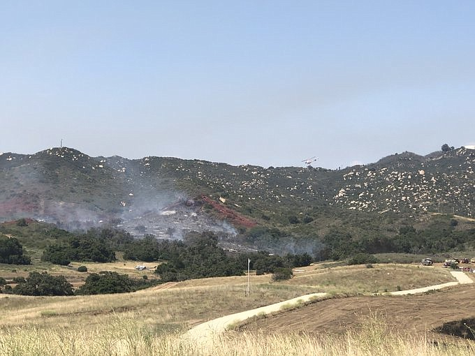 Smoke from the Hotel Fire in De Luz near Camp Pendleton on June 3, 2020.