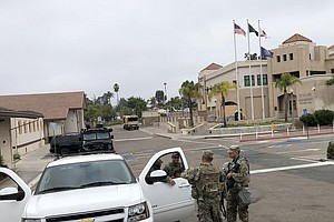 California National Guard Arrive In San Diego Days after Weekend Violence
