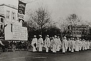 The Great Demand, unveiled at the Suffrage Parade in Washington, D.C. March 1...