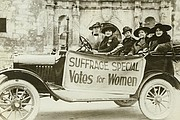 Touring the state for suffrage, circa 1916.