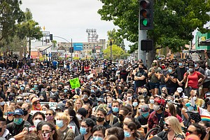 Photo for Images Of San Diego Protesters Raising Their Voices Against Police Violence