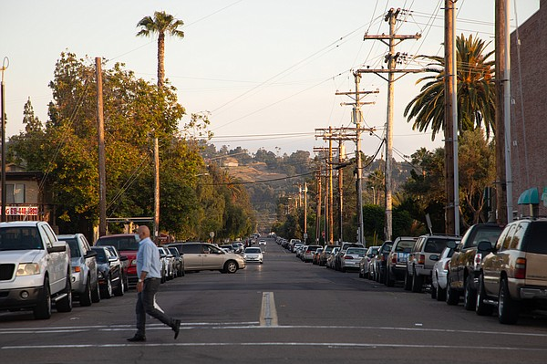 South Lincoln Avenue at Main Street in El Cajon is shown ...