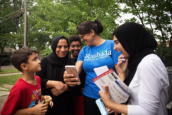 Detroit's Rashida Tlaib campaigns to become the first Mus...