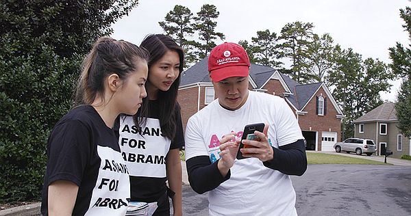 Members of Asians for Abrams, supporters of Georgia guber...
