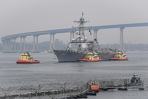 Photo for USS Kidd Leaves San Diego Wednesday Following COVID-19 Outbreak