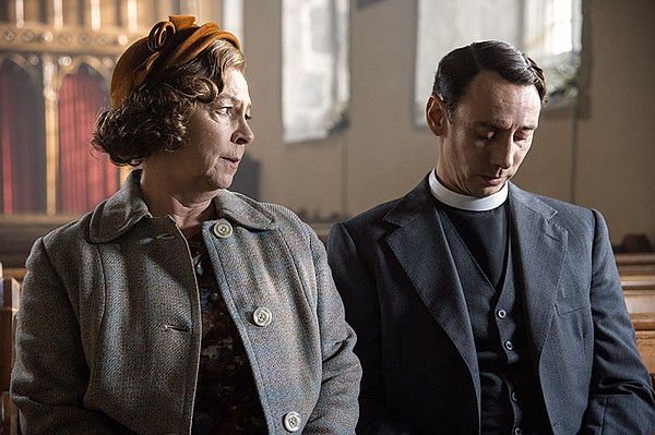 Shown from left to right: Tessa Peake-Jones as Mrs. C and...
