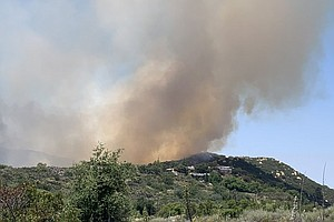 Photo for Skyline Fire Near Jamul Now 40% Contained