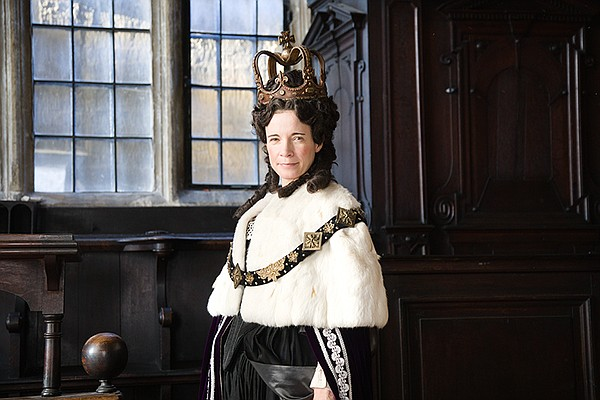 Lucy Worsley as Queen Anne.