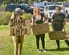 Isabella Lawrence, center, is pictured at at re...