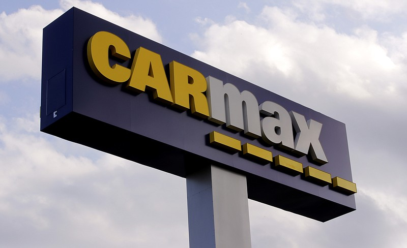A sign at the CarMax dealership in Manchester, N.H., Thursday, Aug. 15, 2019.