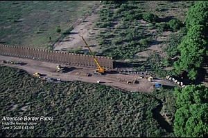Photo for In Crossing Arizona's Last Free-Flowing River, Border Wall Construction Resul...